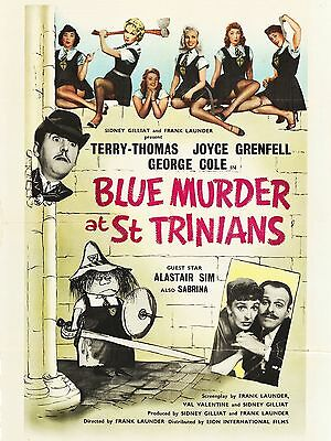 """Blue Murder at St Trinians 16"""" x 12"""" Reproduction Movie Poster Photograph"""