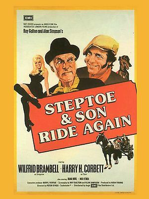 """Steptoe and Son Ride Again 16"""" x 12"""" Reproduction Movie Poster Photograph"""