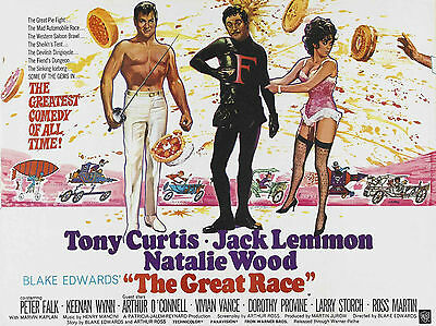 """The Great Race 1965 16"""" x 12"""" Reproduction Movie Poster Photograph"""