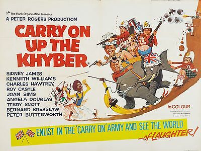 """Carry on up the Khyber 1968 16"""" x 12"""" Reproduction Movie Poster Photograph"""