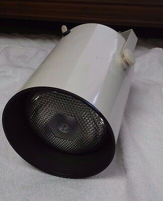 "White Plug In Track Can Lighting 8"" Tall No tracks included Good Working Cond."