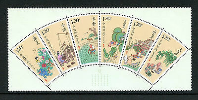 China 2016 MNH Solar Terms 6v Strip Fan Shaped Stamps