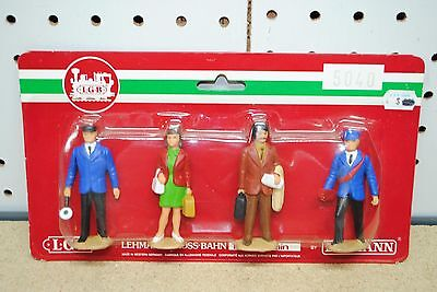 LGB 5040 Train Station Figures - Personnel & Travelers *G-Scale* NEW