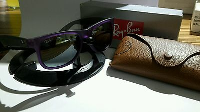 ray ban RB4165 justin purple / gray with new mirror lenses genuine