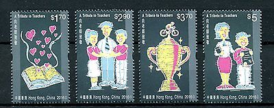 Hong Kong 2016 MNH Tribute to Teachers Day 4v Set Education Books Stamps