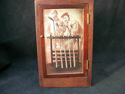 Sterling Silver Replicas of The Tom Morris Woods in Wood and Glass Display Case