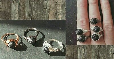 Wire wrapped aromatherapy rings