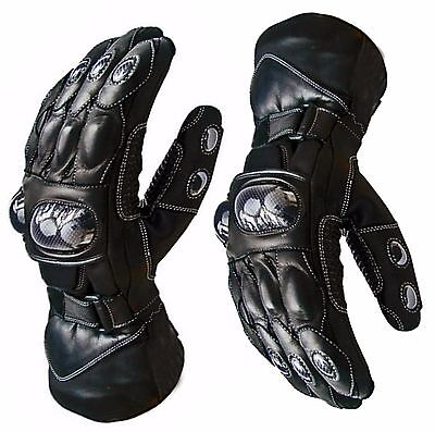 Winter Waterproof Motorbike Motorcycle Leather Gloves for Winter THERMAL R A X