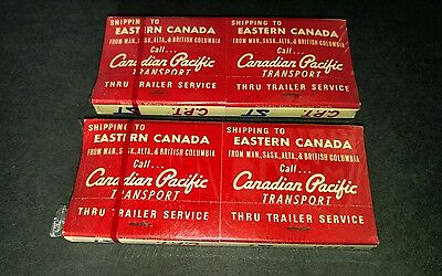 Vintage Match Books Matches Sealed Smith Transport Canadian Pacific Transport CP