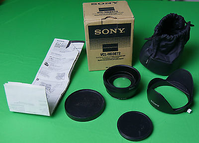 SONY VCL-HG0872 Weitwinkel 72mm  zB. HXR-NX5 HVR-Z5 Z7 S270 FDR-AX1 HDR-FX1000