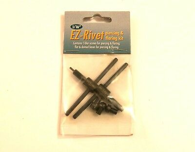 "Beadsmith Ez-rivet 1/16"" Metal Hole punch And Rivet Tool Kit Accessory set"
