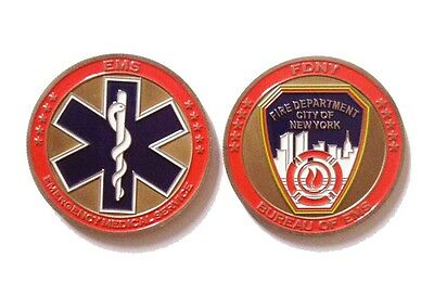 FDNY Bureau of EMS Challenge Coin