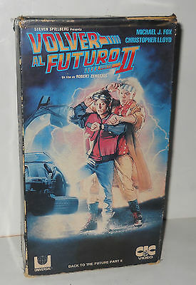 rare vintage VHS 1980 BACK TO THE FUTURE 2 - Pal-N ARGENTINA aventure