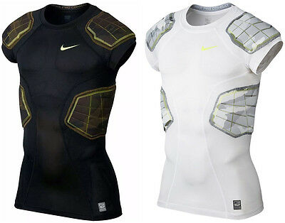 New Nike Pro Combat Hyperstrong Compression 4-Pad Padded T Shirt Football