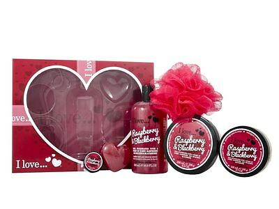The Big Box of Love I Love Raspberry & Blackberry Gift Set For Her Body Care
