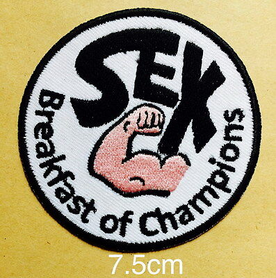 776 SEX Breakfast of Champions F1 James Hunt Racing Iron On Embroidered Patch