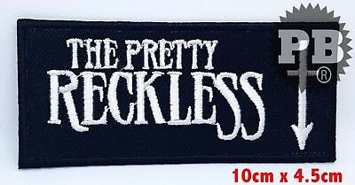 #834 THE PRETTY RECKLESS Sew Iron On Patch Heavy Metal Rock Logo Embroidered