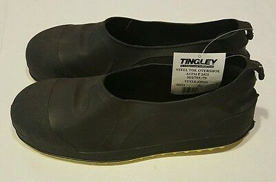 Size XL Overshoes Men's Yellow/Black, Steel Toe Tingley Style #35211