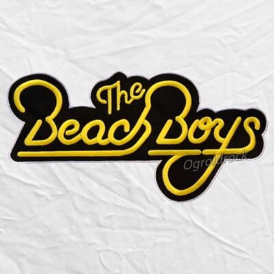 The Beach Boys Logo Embroidered Big Patch Rock Pop Surf Brian Wilson Mike Love