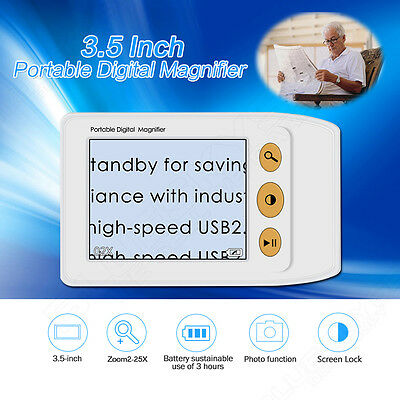 """3.5"""" LCD Portable Video Digital Magnifier Reading Aid for Low Vision Up To 25x"""