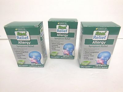 3 Homeolab USA Allergy Relief Tablets, 90 Chewable Tablets