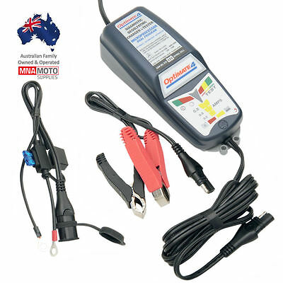 Tecmate NEW OptiMate 4 Dual Program Powersport Motorcycle Battery Charger