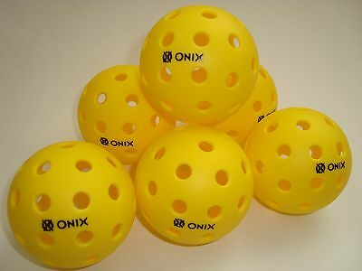 New 6 Pack Onix Pure2 Pickleball Balls Outdoor Onix Pure Tournament Play Usapa