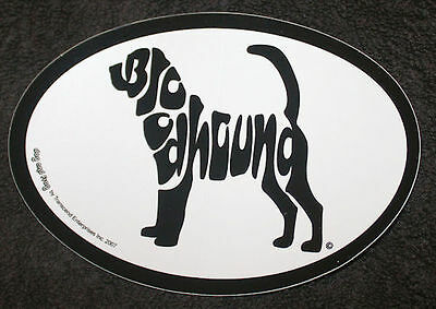 Bloodhound Oval Euro Style Car Dog Decal Sticker