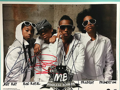 """Mindless Behavior Poster, and Signed 8"""" X 10"""" Photo, Genuine US Product, New"""