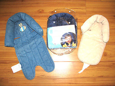 LOT set of 3 INFANT HEAD REST Double head Support Eddie Bauer