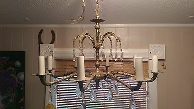 Awesome Antique  Solid Brass 8 Light Chandelier