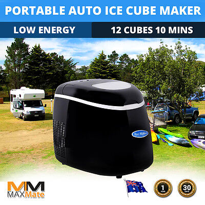 Portable Ice Cube Maker Low Energy Automatic Camping Home Fast Easy 3 Sizes 2L