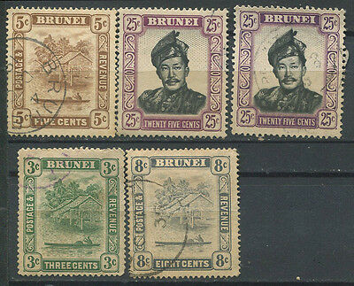 Brunei 1924 etc used stamps incl SG 73