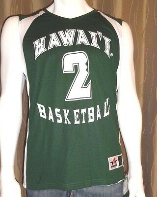 Hawaii Womens Basketball Jersey #2 Game Quality ReversIble S/Med/Lrg/XL  NWT $75