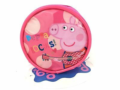 Officially Licensed | PEPPA PIG  | Coin Purse Round with Zip Closure
