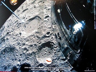 """""""Apollo 13 FLOWN to the Moon Fragment of Utility Light Cable from Aquarious""""."""