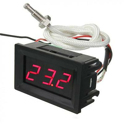 LED Digital DC 12V Thermocouple 0-999℃ Thermometer Temperature Meter with Probes
