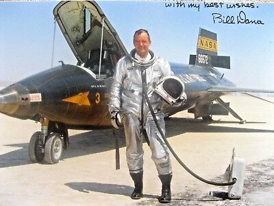 SIGNED Pilot Bill Dana X-15 Rocket Powered Aircraft  World Record Record Setter