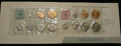 1965 New Zealand Mint Set - 1/2 Penny ~ Original Packaging ~ 14 Coins