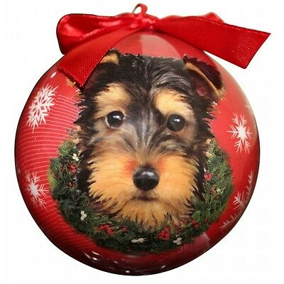 Yorkshire Terrier Puppy Yorkie Shatterproof Ball Dog Christmas Ornament