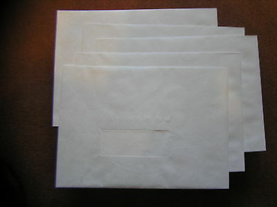 TYVEK TOUGH C4 ENVELOPES 324x229mms WITH WINDOW (COVER WITH LABEL IF NOT USED)