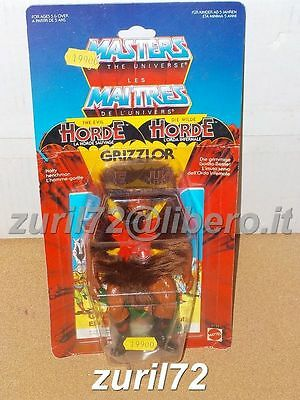 Motu Master Of The Universe Grizzlor Moc Vintage Euro Card