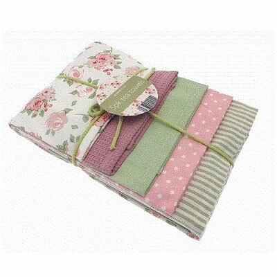 Shabby Country Rose Floral Chic Kitchen  5 pack of Tea Towels