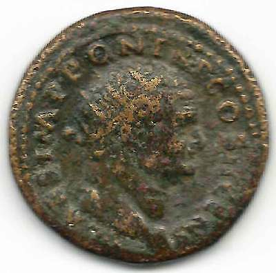 ROMAN IMPERIAL TITUS (79-81AD) AE Dupondius, Radiate head Rev. S.C. ROMA seated