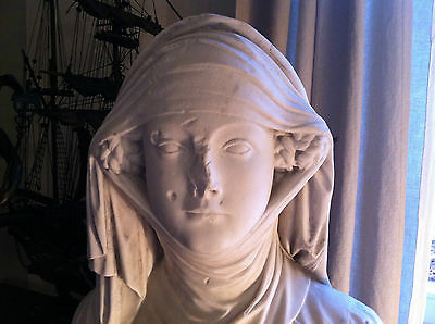 Marble bust medieval girl  France workshop of Julie Charpentier ? 1770 - 1845