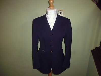Pikeur ladies wool competition show jacket navy blue size 40 or UK 12