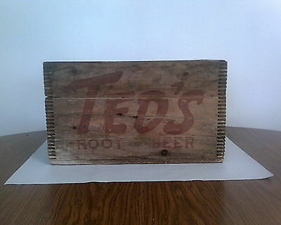 1950's Ted Williams Moxie Root Beer Wooden Crate