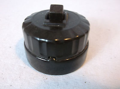 Antique Early BAKELITE 1900's On Off 3 WAY Switch Round FEDERAL  surface MOUNT