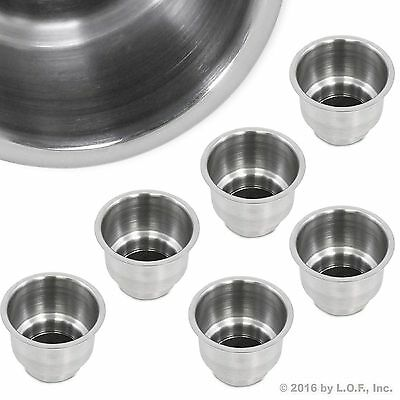 6X Stainless Steel Cup Drink Holder Marine Boat RV Camper Truck Free Shipping