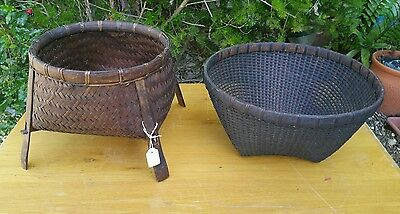 2 x vintage lombok is traditional baskets display furniture